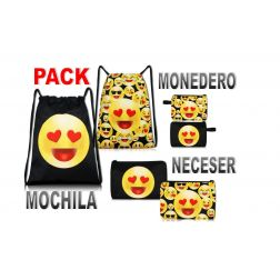 Pack Mochila Emoticonos