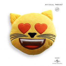 Cojín Emoticono Gato Enamorado