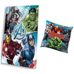 Avengers Manta Polar + Cojín