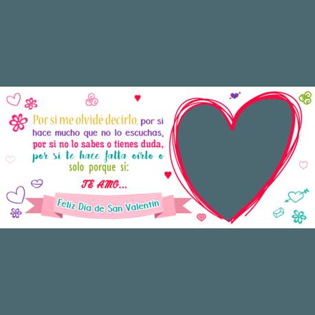 Taza Personalizada corazón con Foto