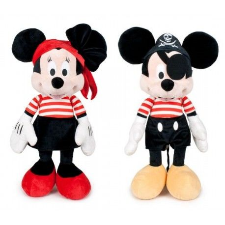 Peluches Minnie y Mickey Pirata