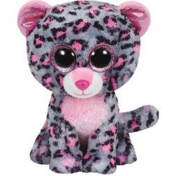 Beanie Boos- Tasha Leopardo Rosa 15 cm.