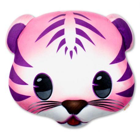 Emoticono tigre rosa