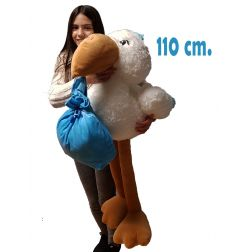 Cigüeña de peluche gigante