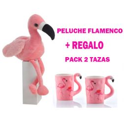 Peluche + tazas Flamencos