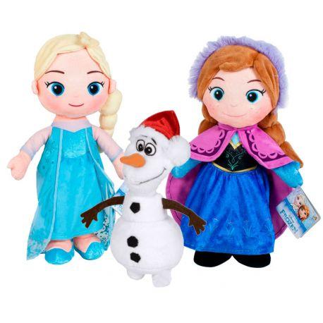 Peluches Elsa, Anna y Olaf