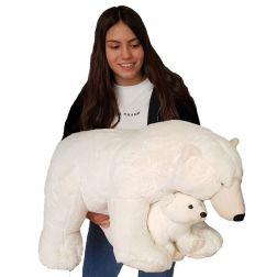 Peluche Oso Polar con Bebé