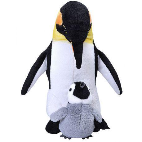 Peluche Pingüino con Bebé