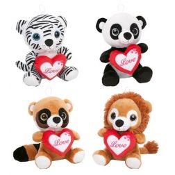 ANIMALITOS PELUCHE CORAZON 32 CM